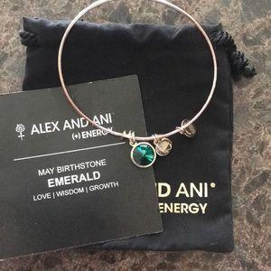 Alex and Ani Expandable Bracelet- Emerald